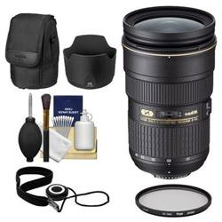 Nikon 24-70mm f/2.8G AF-S ED Zoom-Nikkor Lens with Hood & Po