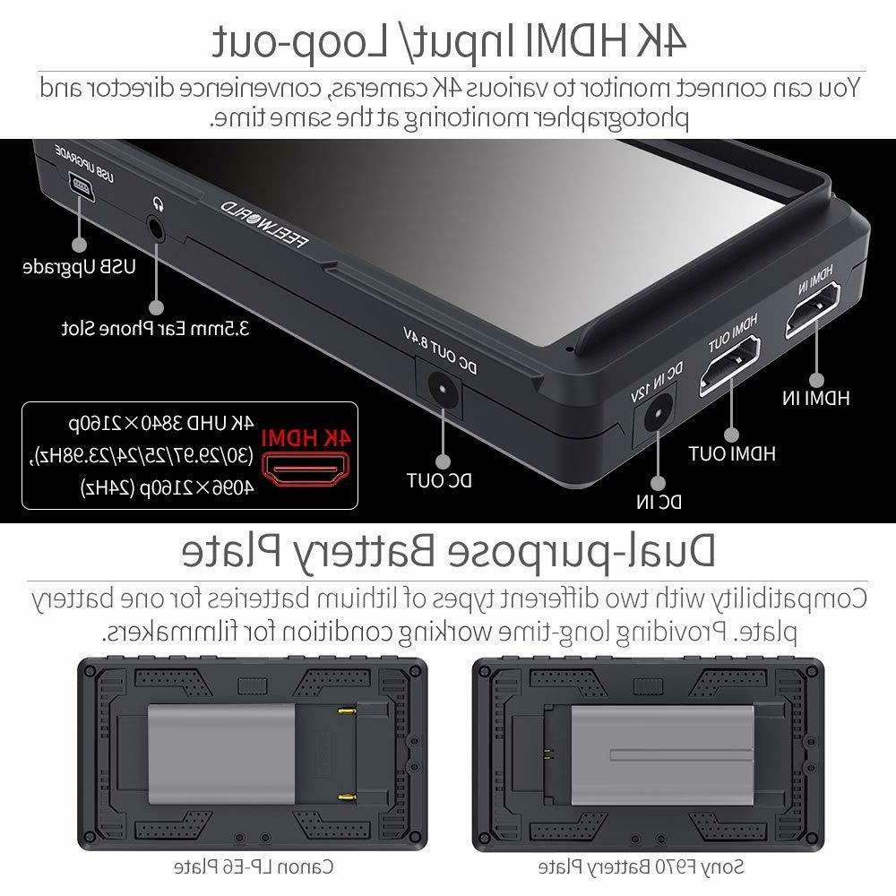 Feelworld F5 inch DSLR Monitor Small 4K HDMI