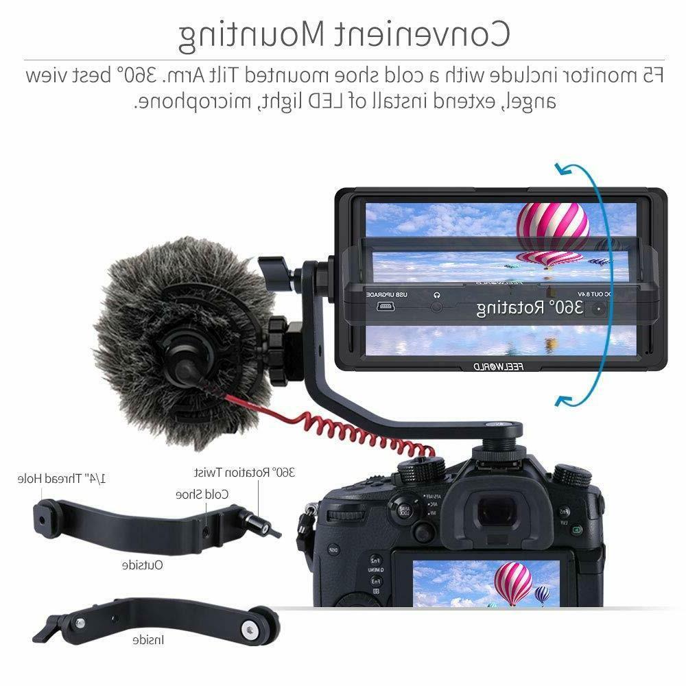 Feelworld 5 DSLR Camera Small Full HD 1920x1080 4K