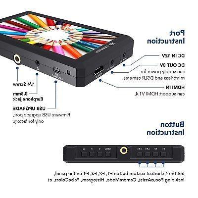 Feelworld IPS Camera Video Monitor DSLR