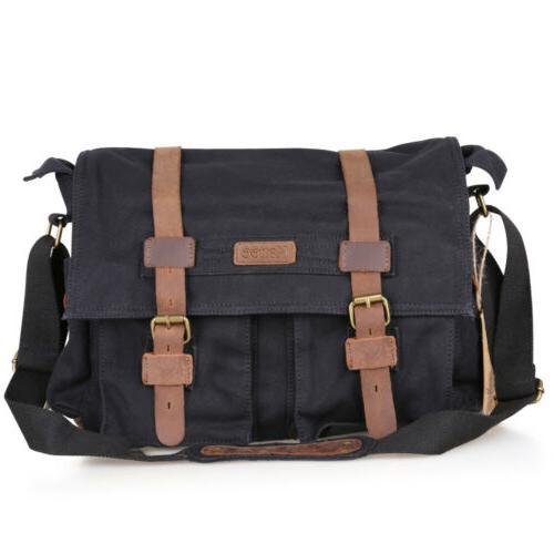 Fashion Canvas DSLR SLR Camera Shoulder Messenger Bag