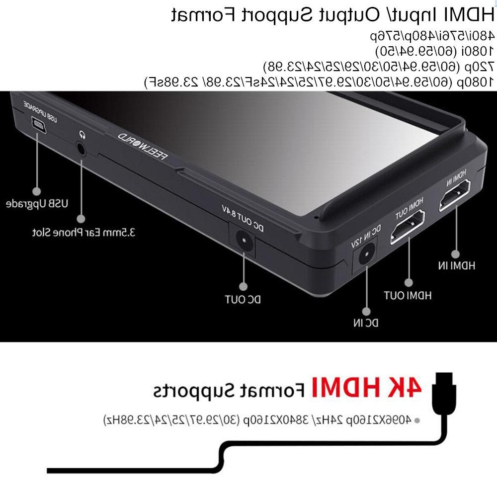 FEELWORLD 4K <font><b>DSLR</b></font> Field Monitor 1920x1080 Display for Nikon DJI ronin crane