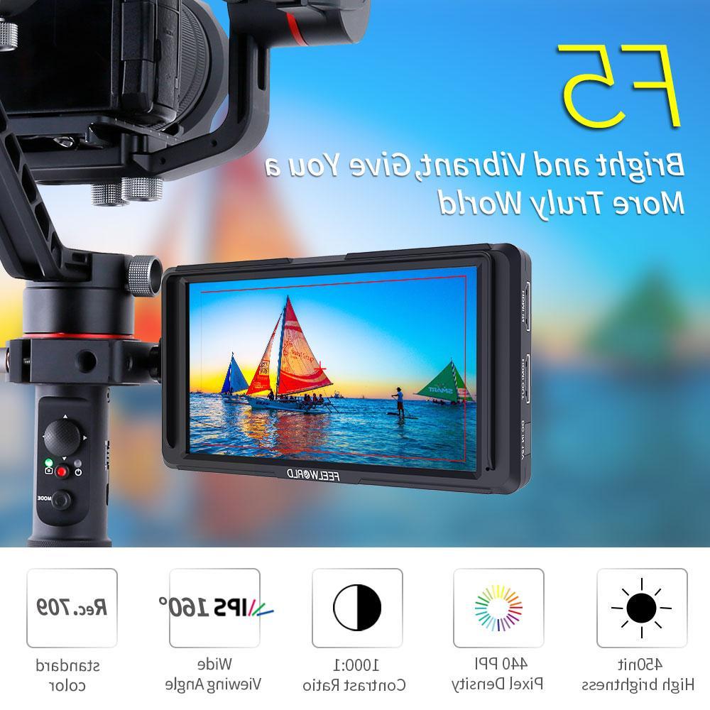 FEELWORLD F5 4K <font><b>HDMI</b></font> Field Monitor 1920x1080 for Nikon Canon DJI s crane