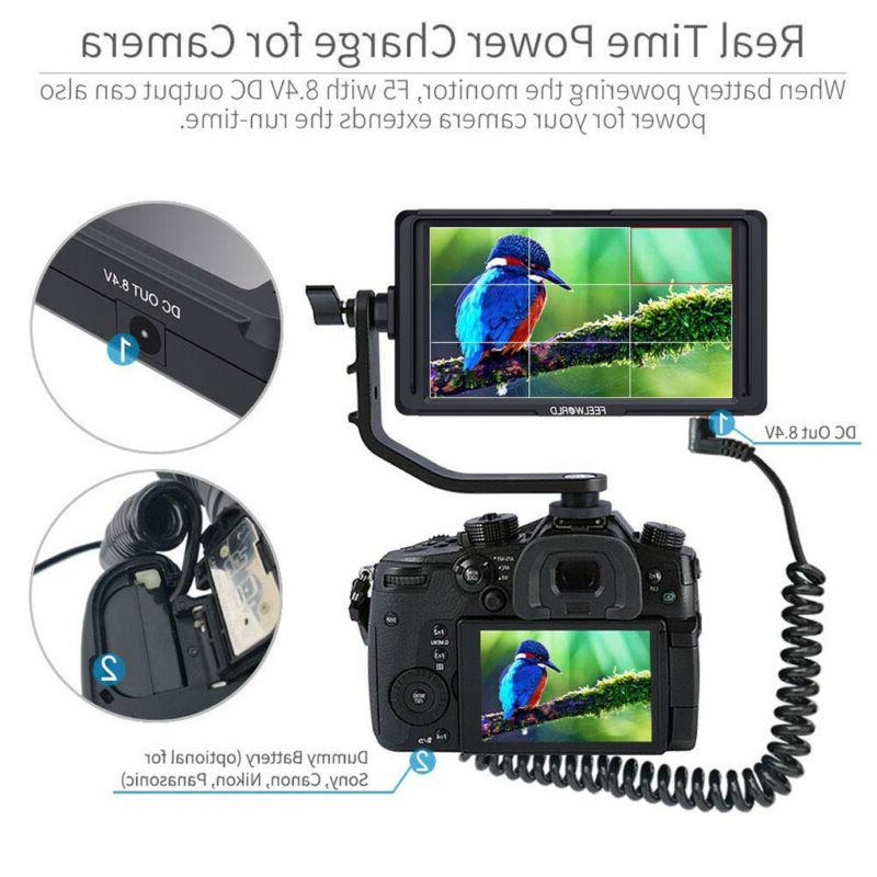 FEELWORLD F5 HD Monitor, 5inch 4K HDMI With
