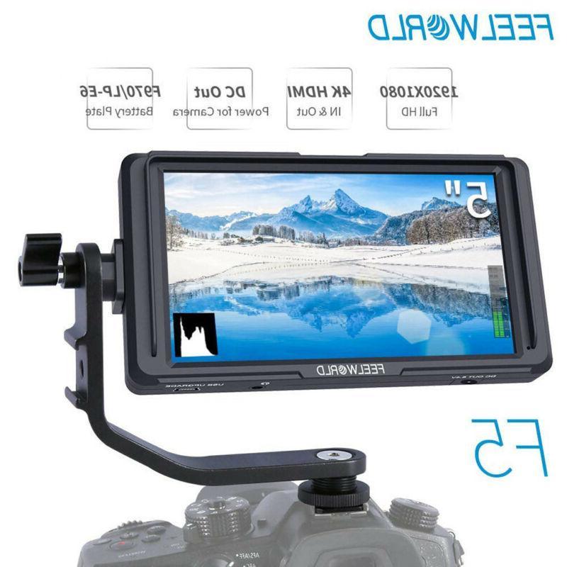FEELWORLD F5 HD Monitor, 4K DSLR HDMI With