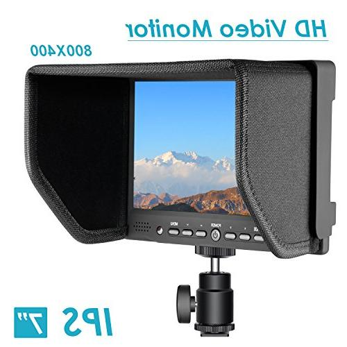 Neewer with Screen 800:1 Contrast 800x480 High Resolution for Nikon Sony Cameras and