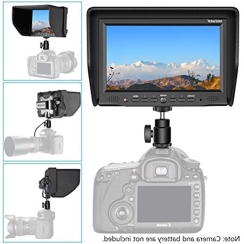 Neewer 7-inch with Screen 800:1 800x480 High Resolution Canon Nikon Cameras Camcorders
