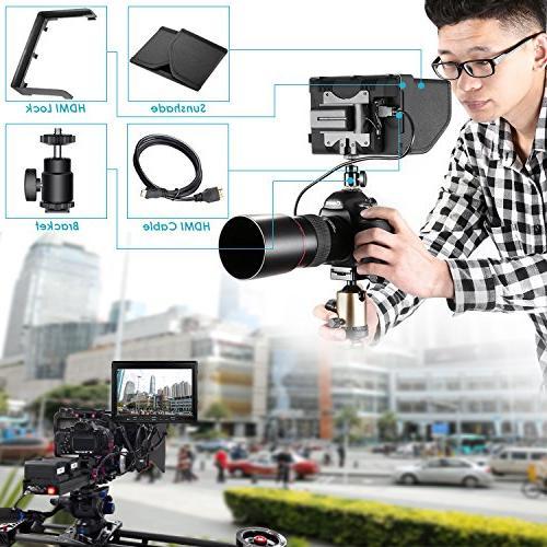 Neewer 7-inch with VGA/AV/HDMI IPS Screen Contrast High Resolution Nikon Cameras
