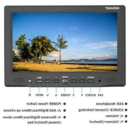 Neewer Field Monitor with VGA/AV/HDMI Screen 800:1 High Nikon Cameras