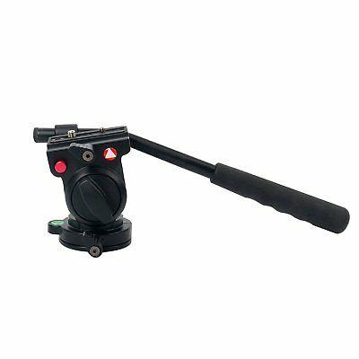 KH-6750 Fluid Damping Head Flexible Aluminum Camera Tripod H