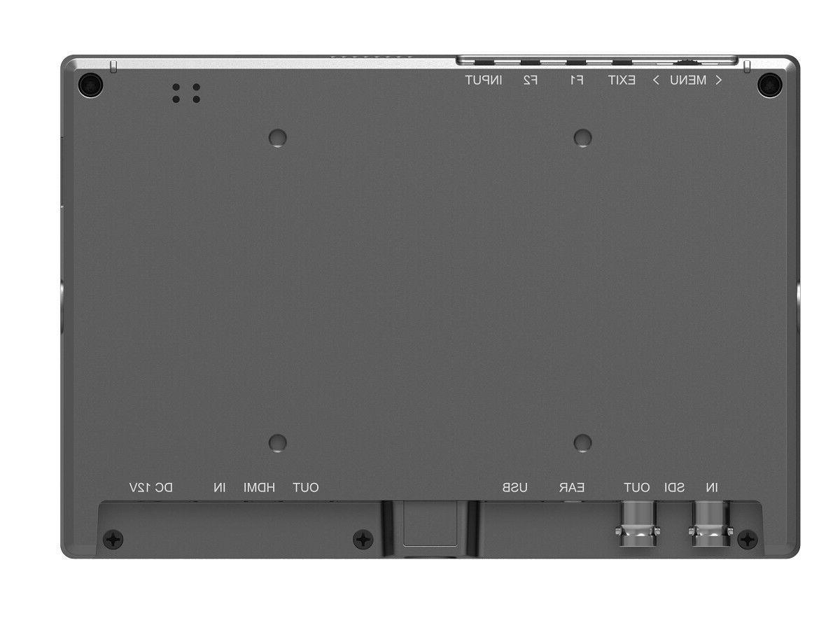"Lilliput FS7 7"" Camera-Top Broadcast Monitor with 4K HDMI 3G-SDI Camcorder"