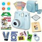 Fujifilm Instax Mini 8 Camera BLUE BUNDLE + Valuable, Useful