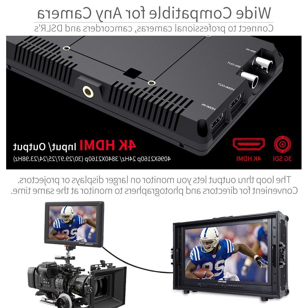 Feelworld 3G 4K <font><b>DSLR</b></font> <font><b>Camera</b></font> Field Monitor Ultra Bright 2200nit HD for Outdoors