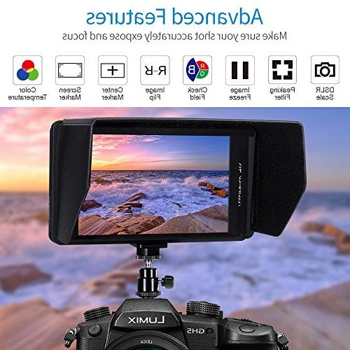 FEELWORLD FW450 DSLR On Monitor HDMI Output 1280x800 Ultra Assist