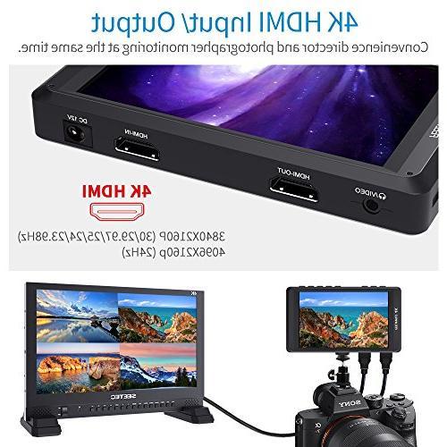 FEELWORLD DSLR Monitor 4K Input Output HD 1280x800 Ultra Video Assist