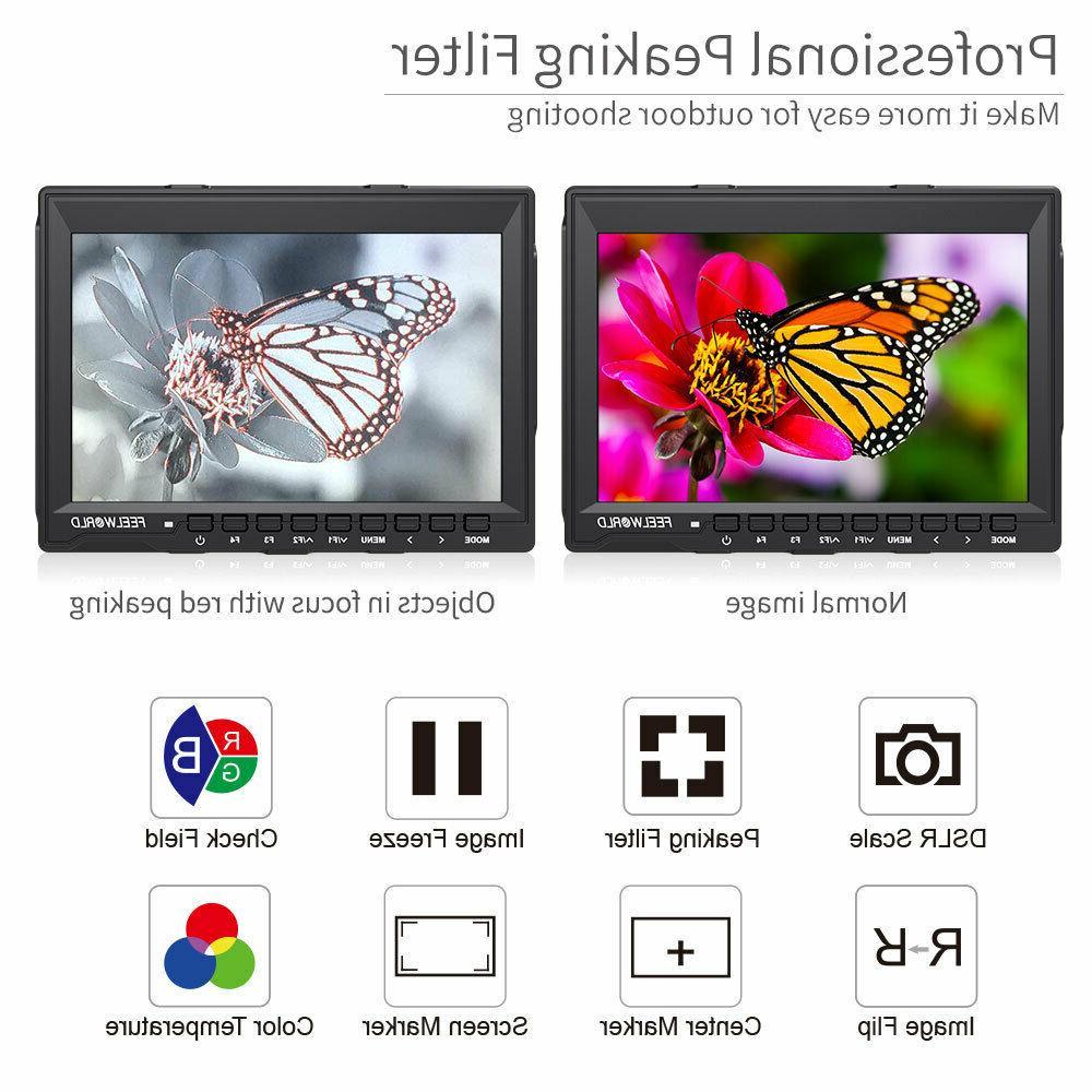 FEELWORLD FW759 DSLR Camera LCD 4K HDMI Video Assist