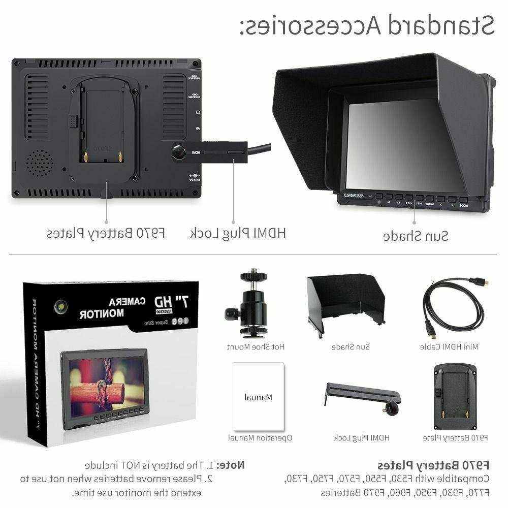 FEELWORLD FW759 DSLR Camera Field LCD IPS