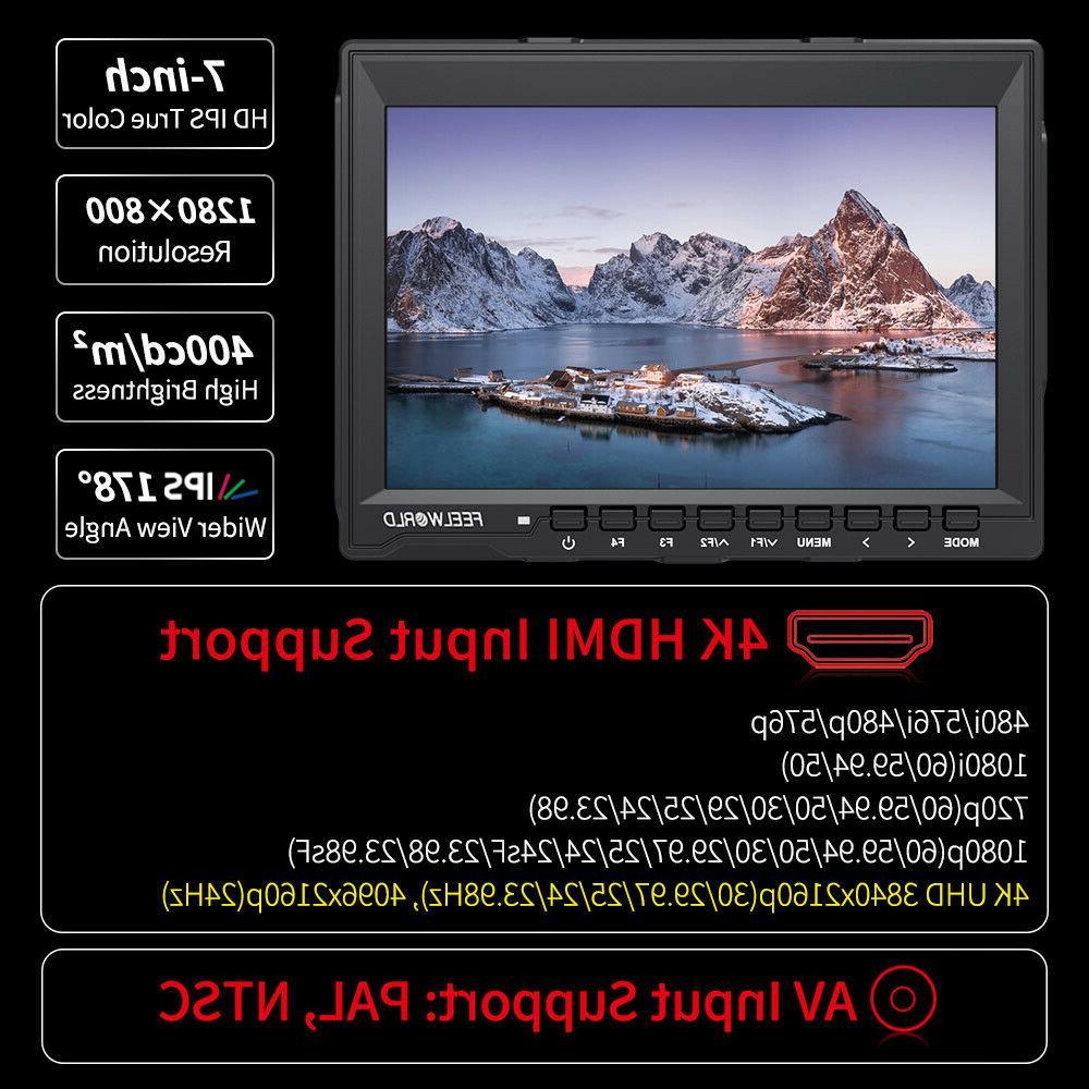 FEELWORLD FW759 DSLR Camera Field LCD 4K HDMI