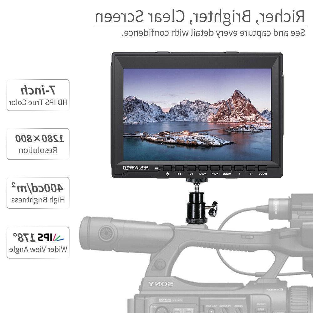 FEELWORLD DSLR Camera LCD 4K HDMI Video Assist