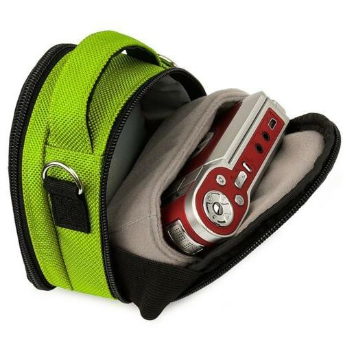 Green Small Camera Shoulder Bag Case for HX99 RX100 VI / RX0