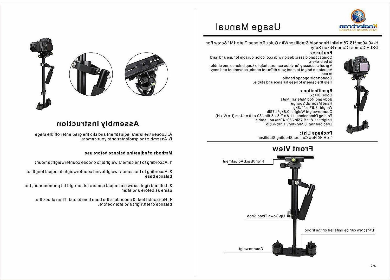 """Koolertron H-40 15.75"""" Mini DSLR Camera"""