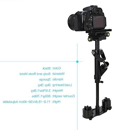 Steadicam Pro for Camera Video Nikon Canon, Panasonic with Quick Release Plate