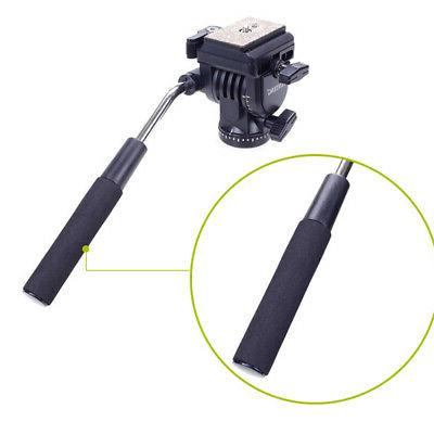 Heavy Camera Tripod Monopod Fluid Head Unipod D2J4
