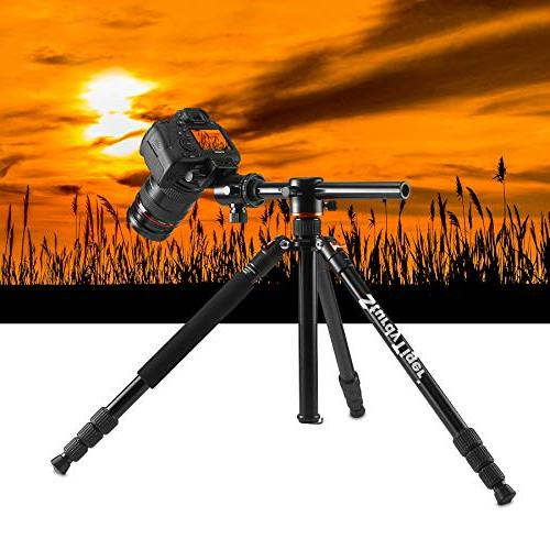 "Horizontal Arm Tripod & Portable with 360° Ball – 67"" Tripod Video Travel"