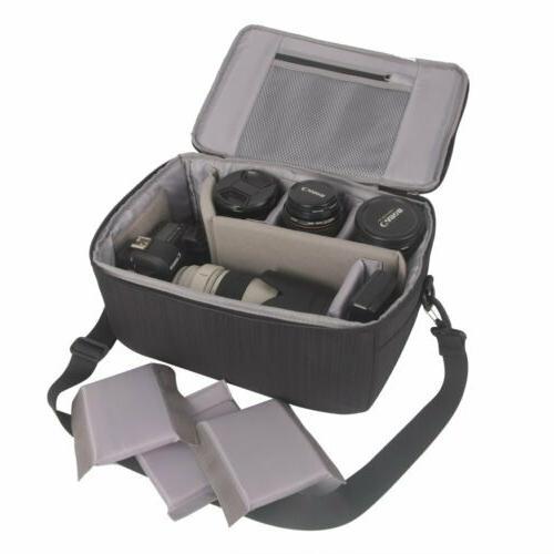 Koolertron Camera Insert Bag Purse DSLR Liner Lens Pouch Pro