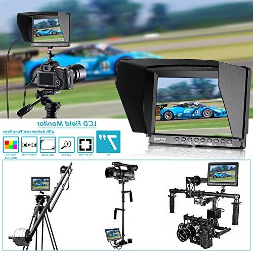 Neewer 7-inch 1280x800 IPS Screen Camera Monitor support HDMI Mirrorless Camera II A6500 Canon Mark IV and