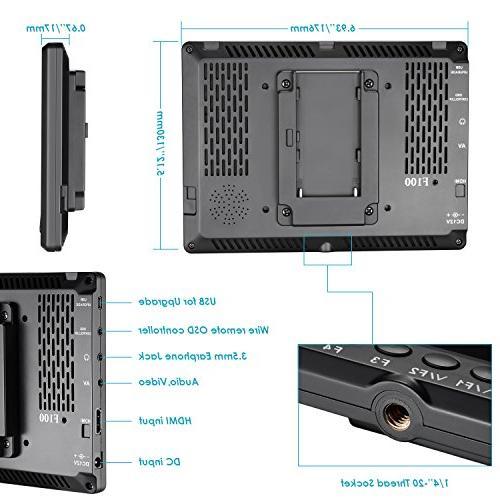 Neewer 7-inch IPS Screen Camera Monitor 4k input HDMI II A6500 Canon Mark and