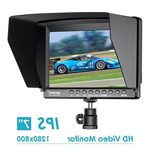 Neewer F100 7-inch IPS Monitor HDMI Video for DSLR Mirrorless Camera SONY A7S II A6500 Canon Mark and More