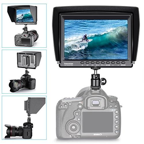 Neewer 1280x800 IPS Monitor input Mirrorless Camera II A6500 Canon 5D Mark and More