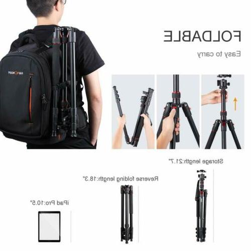 K&F Concept Aluminum Tripod with 360 Degree for DSLR