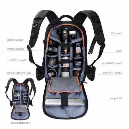 K&F Concept DSLR Camera Backpack Bag Case Waterproof Large C