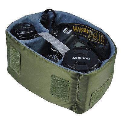 Khaki Shoulder for DSLR Canon Nikon Canvas