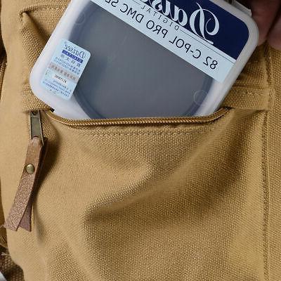 Khaki Camera Shoulder Carry Travel Bag for DSLR Canvas