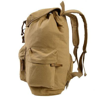Khaki Camera Case Backpack Shoulder Carry Travel for Canon Canvas