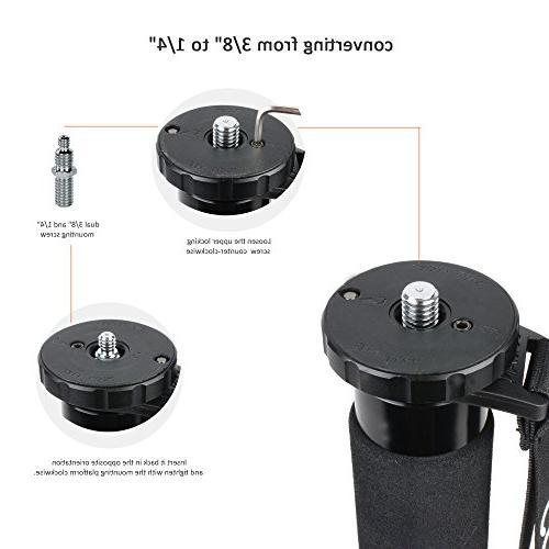 COMAN KX3232 Lightweight Monopod Fluid and feet, 73 Inch Load