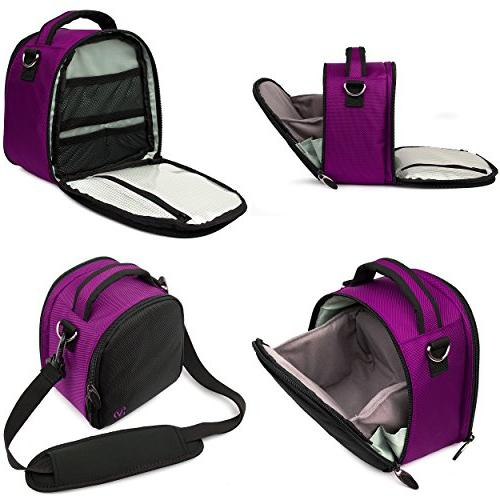 VanGoddy Purple Carrying Case Kodak PixPro Zoom/Compact to