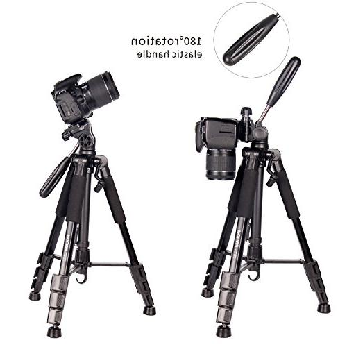 """POLAM-FOTO 55"""" Tripod,Compact Tripod Level,Lightweight Carry Bag fits with"""