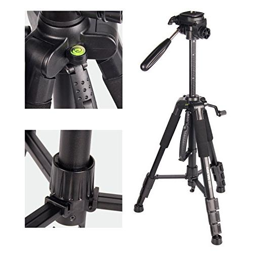 POLAM-FOTO Travel Camera Tripod,Compact Tripod Level,Lightweight Aluminum with Carry Bag for fits
