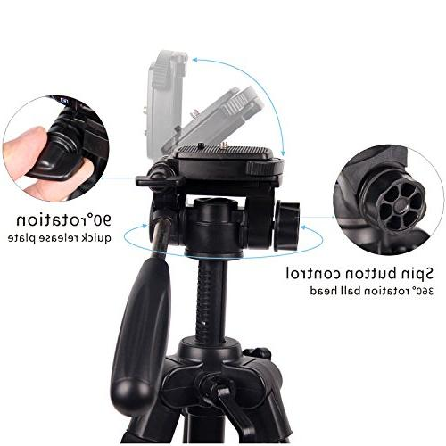 POLAM-FOTO Camera Tripod,Compact Tripod with Level,Lightweight Tripod with Carry for fits Canon/Nikon/Sony/etc