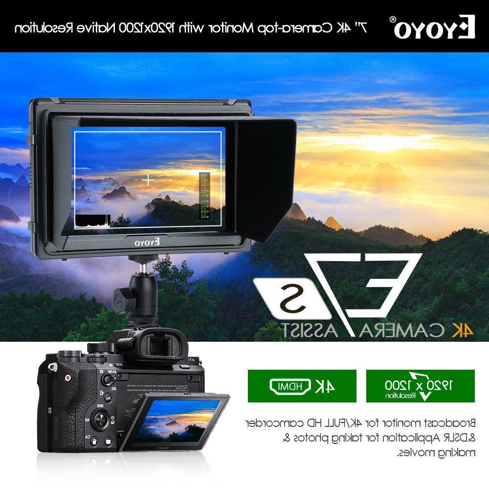 Eyoyo E7s 7-inch 1920x1200 4K HDMI DSLR Camera Field Monitor