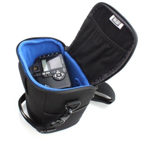 USA Gear Travel Camera Bag Nikon Cameras with Adjustable Padded Shoulder - Works With D500, Digital