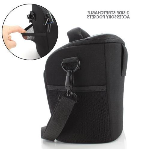 USA Top Travel DSLR Case Bag for Nikon Cameras with Adjustable Dividers Padded Shoulder Strap Works With Nikon D500, and Digital SLR Cameras