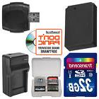 LP-E12 Battery & Charger + 32GB SD Card Kit for Canon Rebel
