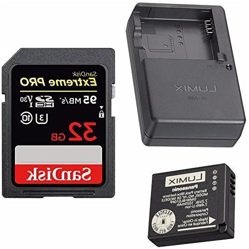 Panasonic Lumix Battery & Charger Pack  + 32GB U3 SD