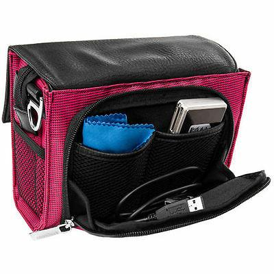 Magenta VanGoddy DSLR Shoulder Camera Carrying Bag For GoPro