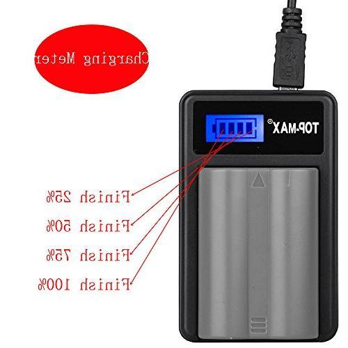 TOP-MAX with Screen EN-EL3e for D80, D200, D300 D700 Digital SLR